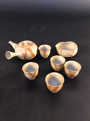 Sencha Tea Set (pot and five cups) [DW-C 135]