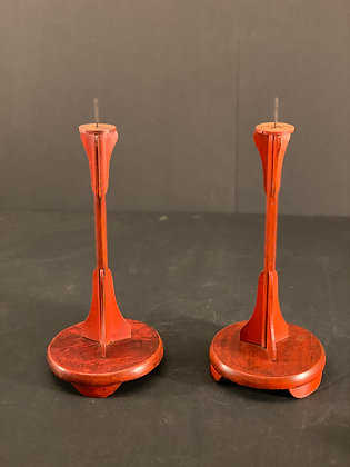Candle Stand, Lacquer (Pair)  [H-CS 1176]