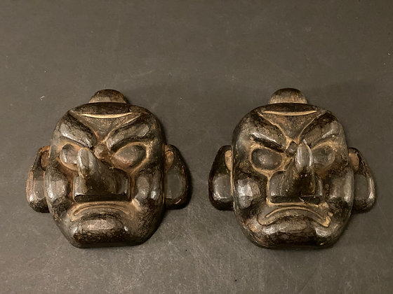 Tengu mask molds, pair  [A-M 1029]
