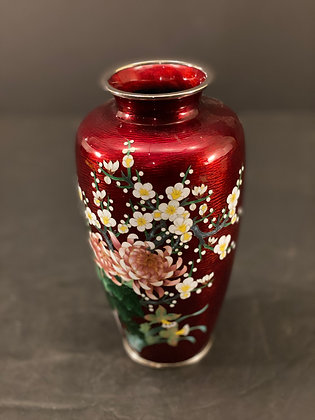 Japanese Cloisonne Vase  [H-V 1221]