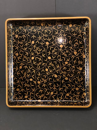 Makie Lacquer Tray  [H - T 1087]