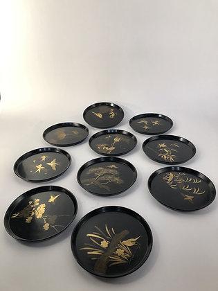 Makie Lacquer Plates (set of ten) [DW-P 193]
