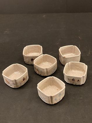 Shino bowl, Kaiseki (set of 6)  [DW-B 1113]