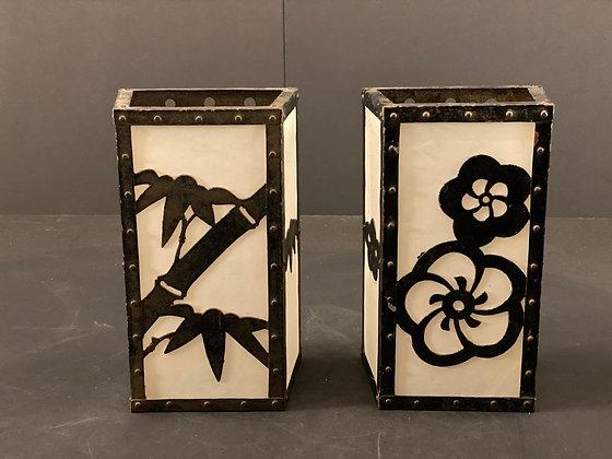 Bronze paper lantern (pair)  [H-L 1163]