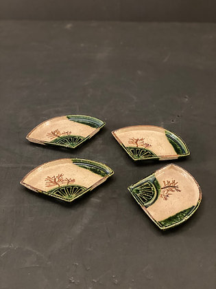 Oribe plate (set of 4)  [DW-P 1118]