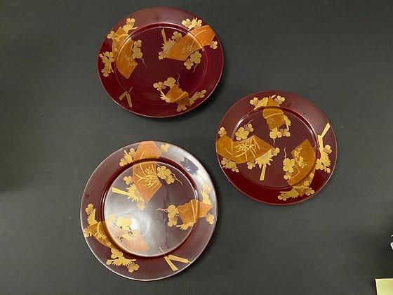 Lacquer plates (set of 3)  [DW-P 1049]