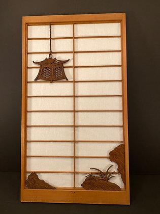 Shoji Door with wood carving  [AR-D 1043]