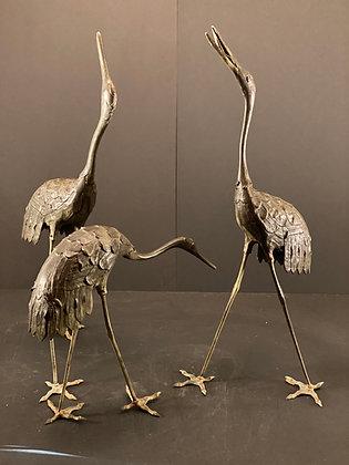 Crane, Bronze (set of 3)  [G-S 1024]
