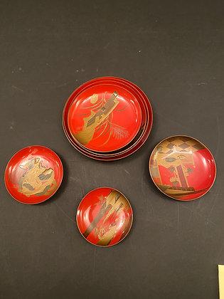 Lacquer Plates (set of seven) [DW-P 1038]