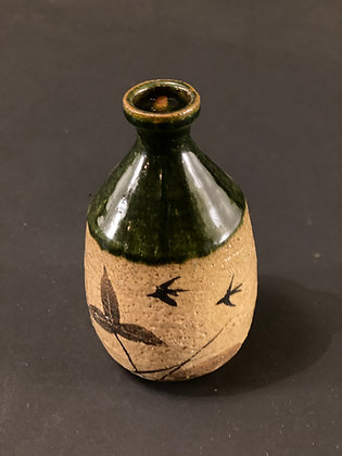 Sake Bottle, Oribe  [H - B 1093]
