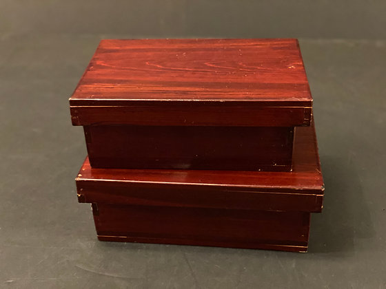Lacquer boxes (set of two)  [M-B 1054]