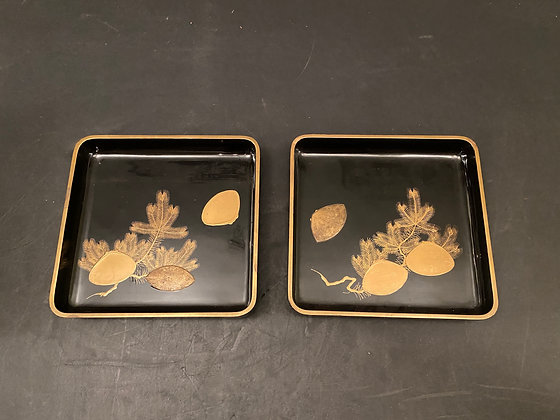 Lacquer trays (pair)  [H-T 1231]