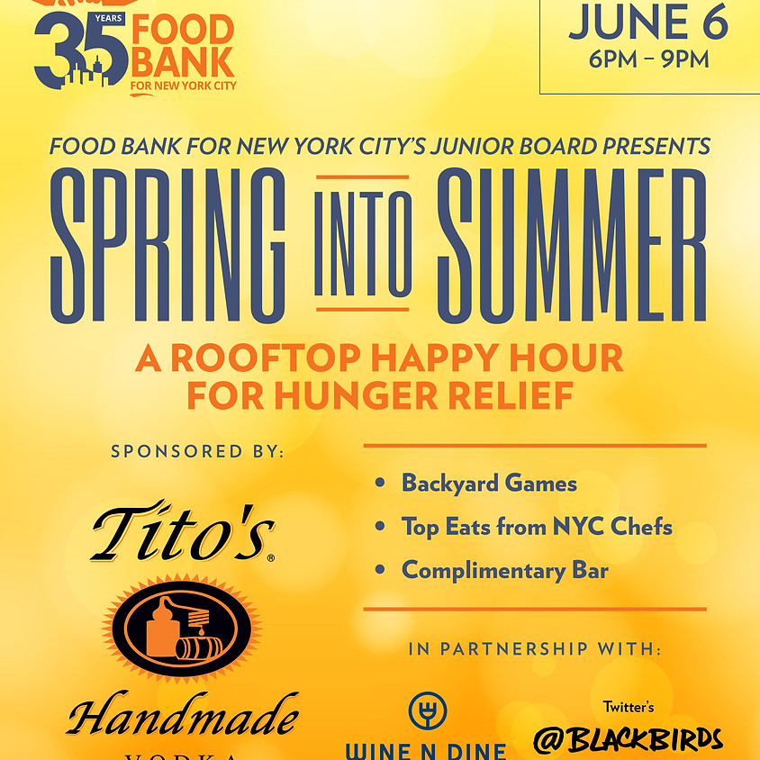 Spring Into Summer Rooftop Happy Hour for Hunger Relief