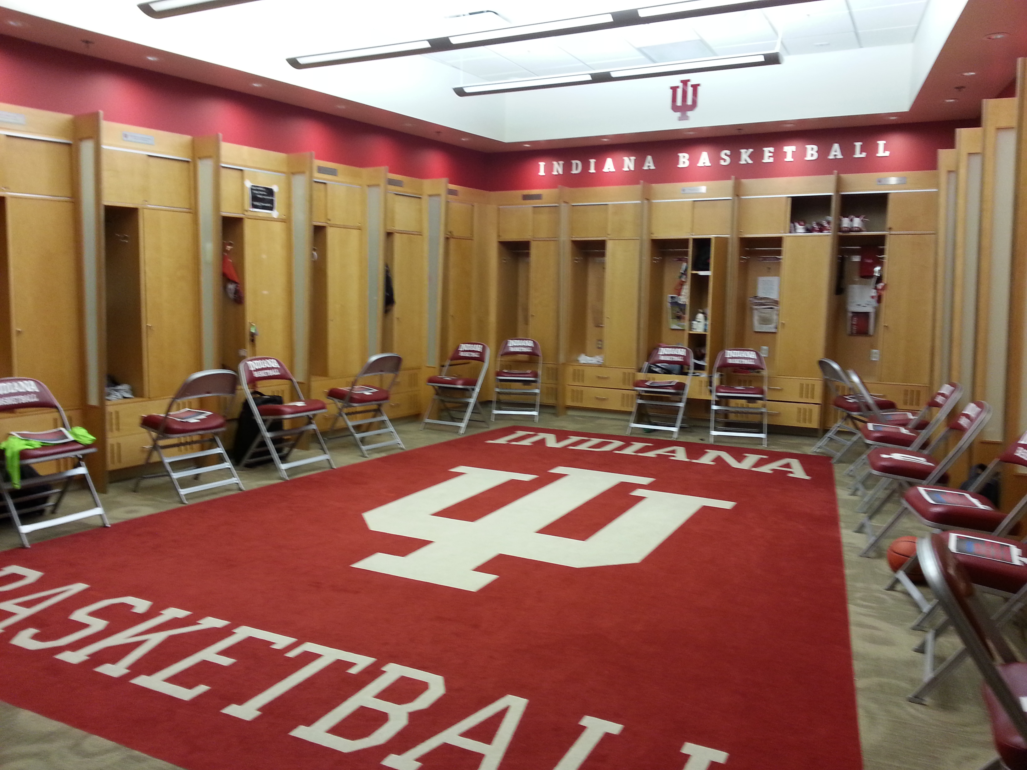 Indiana Basketball Changeroom