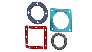 Custom Silicone and EPDM Rubber Gaskets Washers