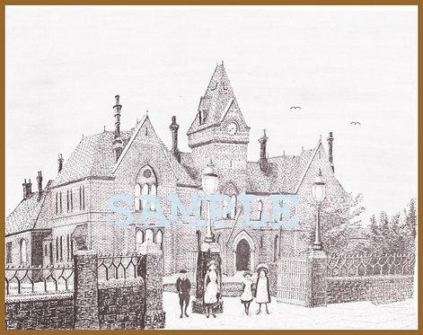 Royal Albert Edward Infirmary, Wigan A4 print
