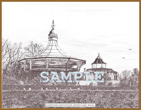 Bandstand and Pavilion, Mesnes Park, Wigan A4