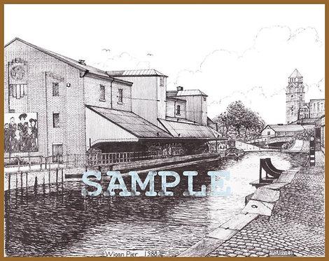 Wigan Pier A4 Print
