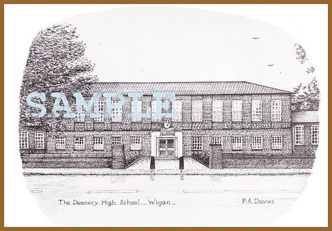 Deanery High School, front A4 print
