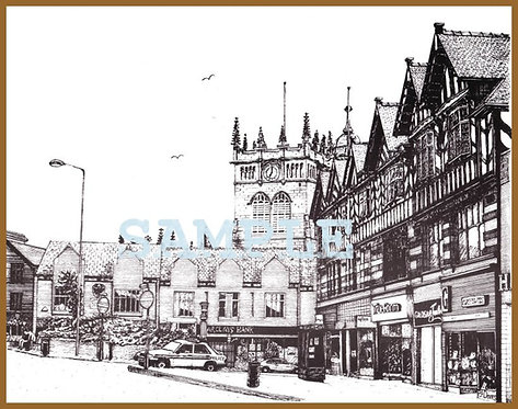 Market Place, Wigan A4 print
