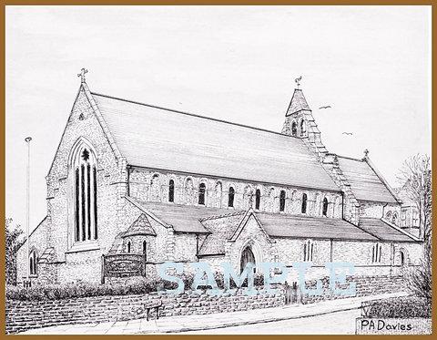 St Michael's Church, Swinley A4 print
