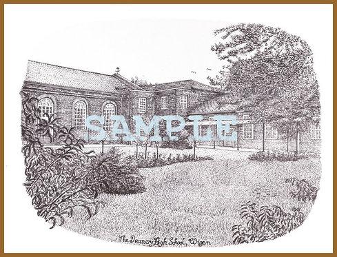 Deanery High School, garden A4 print