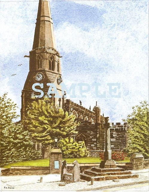 St Wilfrid's Church, Standish A4 Colour print
