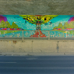 Below bridge art