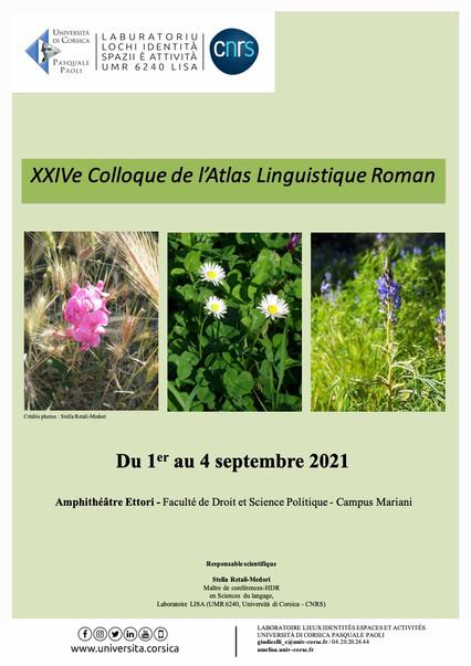 XXIVe Colloque de l'Atlas Linguistique Roman
