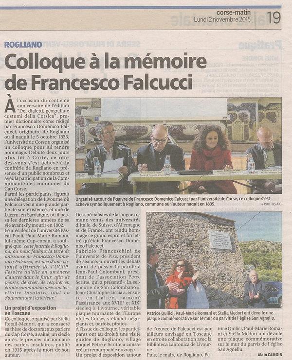 Stella Medori Colloque Lexicographie en mémoire de Francesco Domenico Falcucci