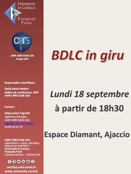 BDLC in giru in Aiacciu u 18 di settembre