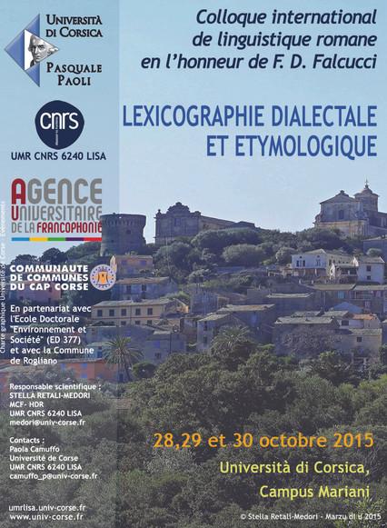Colloque de lexicographie dialectale et étymologique en l'honneur de Francesco Domenico Falcucci