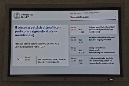 La Corse invitée au Romanisches Seminar de l'Université de Zurich