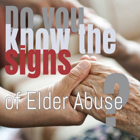 Recognize the Signs of Elder Abuse – Guest Post by Dave Singleton