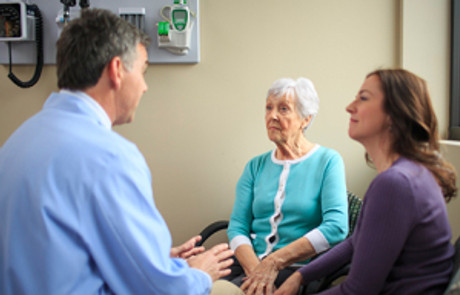 doctor-with-elderly-patient-and-daughter-consulting-dementia
