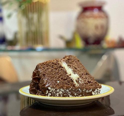 Chiffon con crema pastelera y fudge