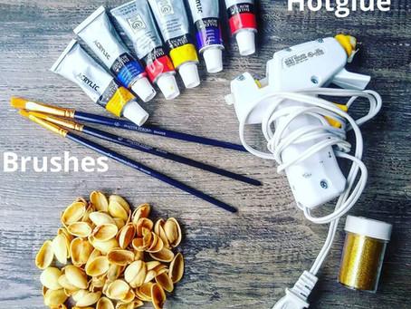 Pistachio Shell Flower Craft