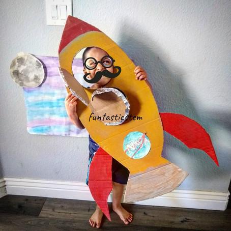Spaceship Making Activity for preschoolers