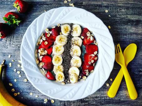 Banana- Berry bowl