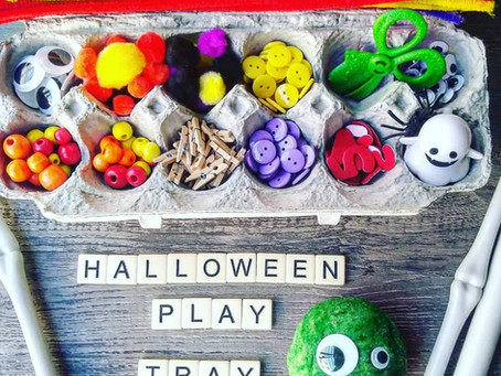 Halloween themed loose parts play