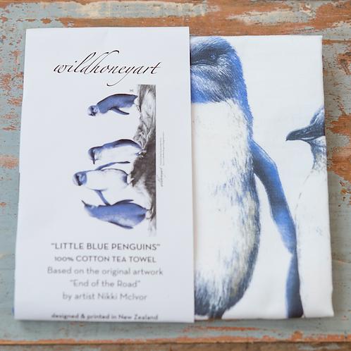 Penguins: Multi-coloured Art Print Tea Towel