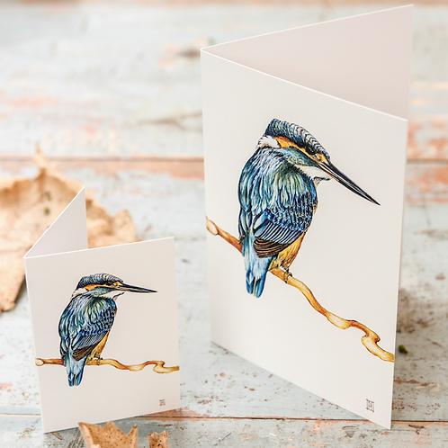 Kingfisher (Cream) Mini Card