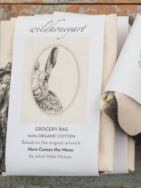 Grocery Bag - Moon Hare