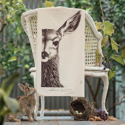 Willow: Single-colour Art Print Tea Towel