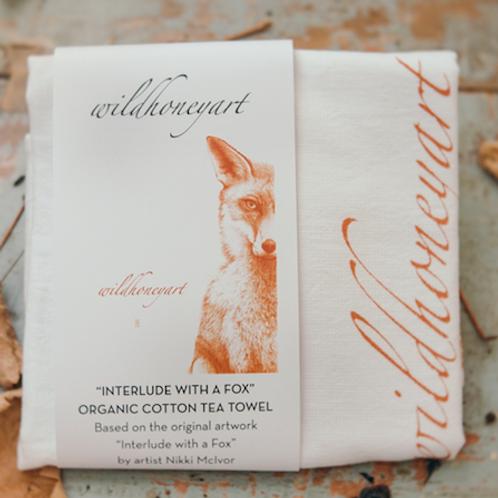 Fox Tea Towel: Organic Fluffy