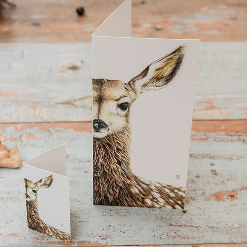 Willow the fawn Mini Card