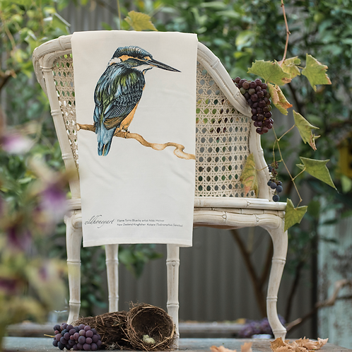 Kingfisher: Multi-coloured Art Print Tea Towel