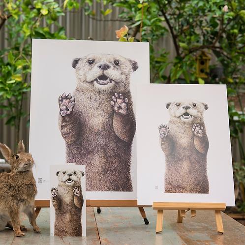 Otter Print: A3 & B3 sizes