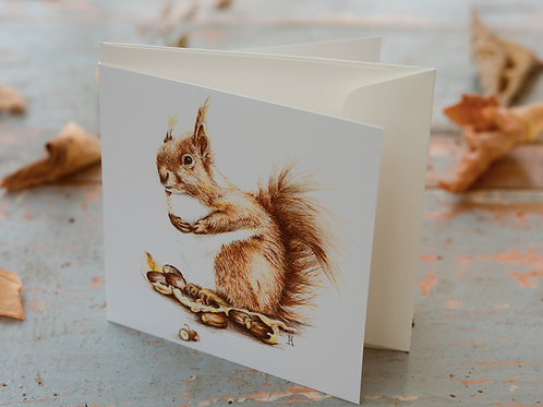 Squirrel Card Mini Card