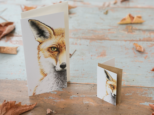 Mr Fox Card Mini Card